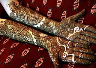 Mehndi Design 2017 Latest Images : Latest special karva chauth bridal mehandi designs