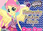 Fluttershy Rocking Hairstyle Juegos De Equestria Girls