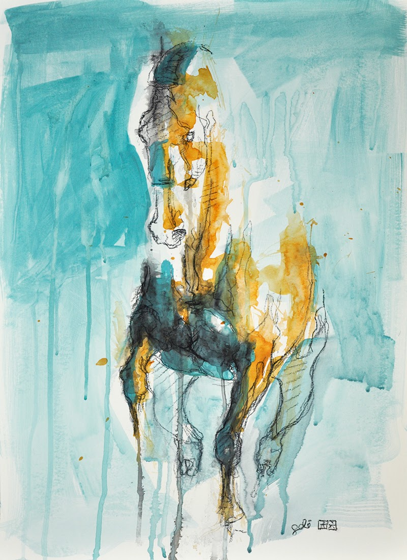 Horse Art by Benedicte Gele from France.