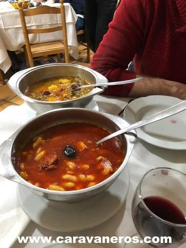Menú del día Llanes Asturias en autocaravana | caravaneros.com