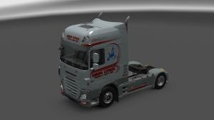 Gray Red Skin for DAF Euro6 by Ohaha