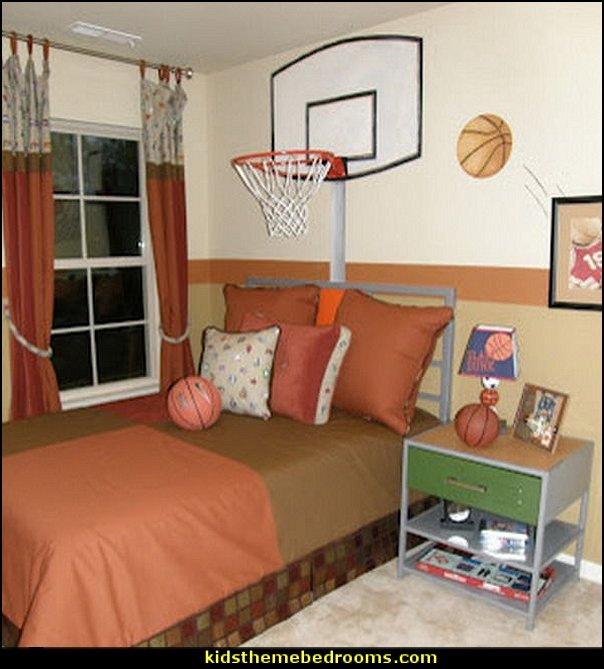basketball decor for bedroom decorating theme bedrooms maries manor sports 14098