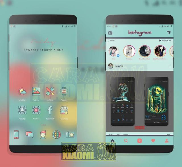 Xiaomi Theme Blue Lime Mtz Material Design Update Tembus Merubah Tampilan Aplikasi [MIUI V8/ MIUI V9]