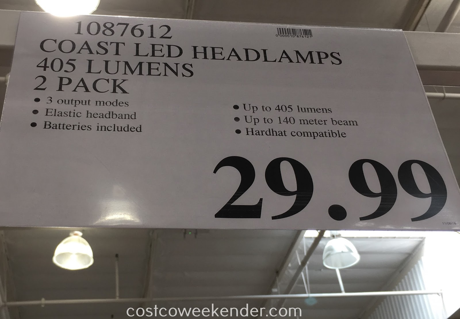 Deal for the Coast Dual Color Focusing LED Headlamp 2 pack at Costco