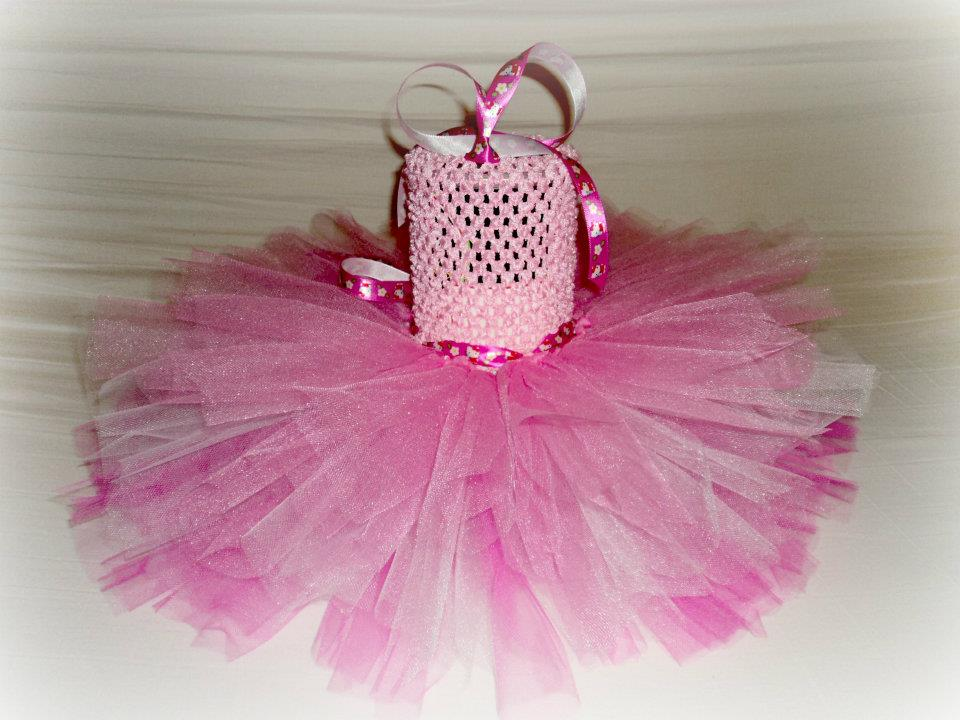 7e6df9de3 Tutu Dress, Hello kitty inspired! Measures 12 inches from top to bottom,  crochet top is 6 in and tulle is 6 in $35 SOLD