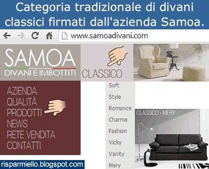 Risparmiello: Samoa divani classici, prezzi rivenditori