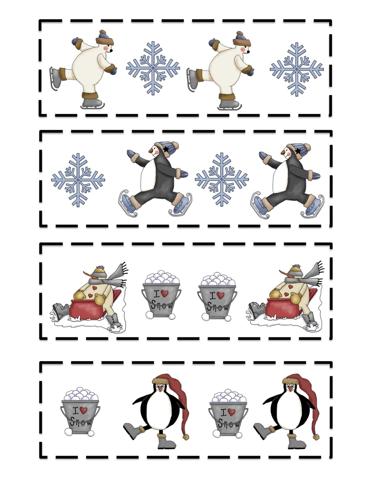 Kindergarten Winter Templates