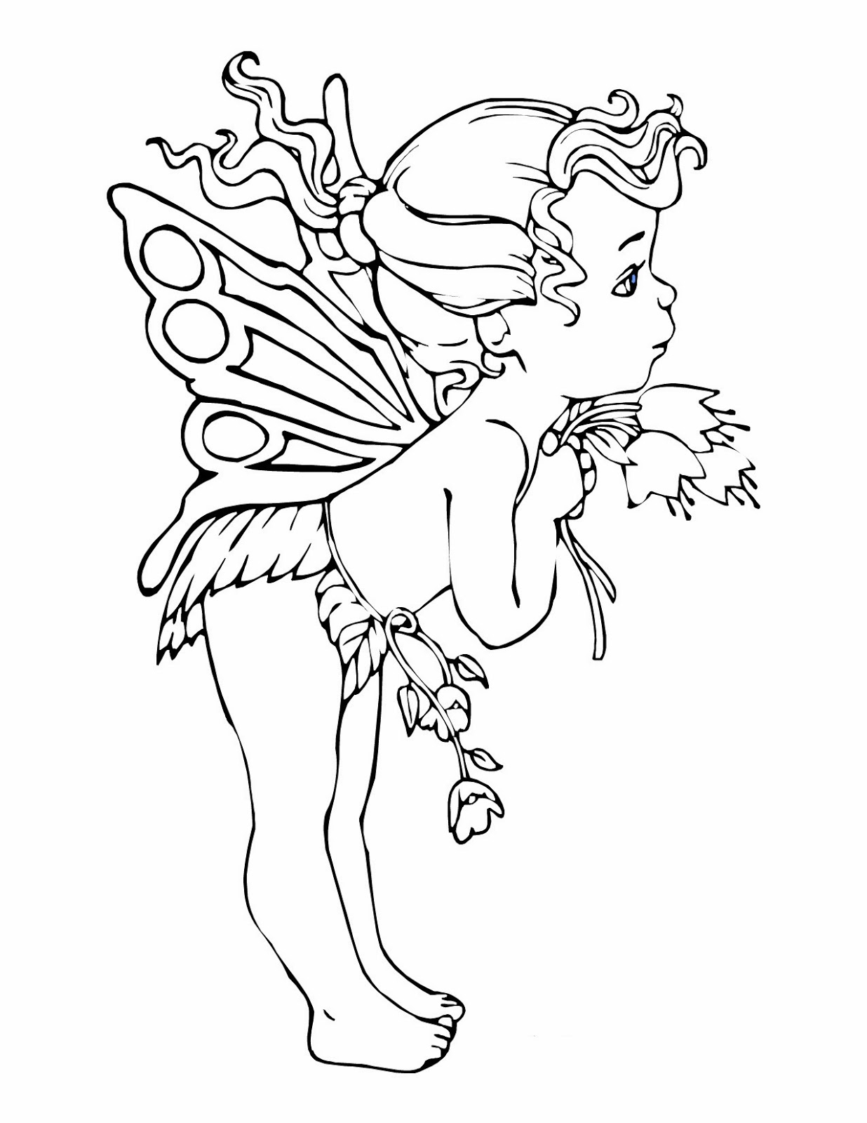 Printable coloring pages for Coloring page fairy