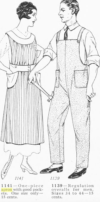 Unsung Sewing Patterns: Ladies Home Journal 1139 - Men\'s Overalls