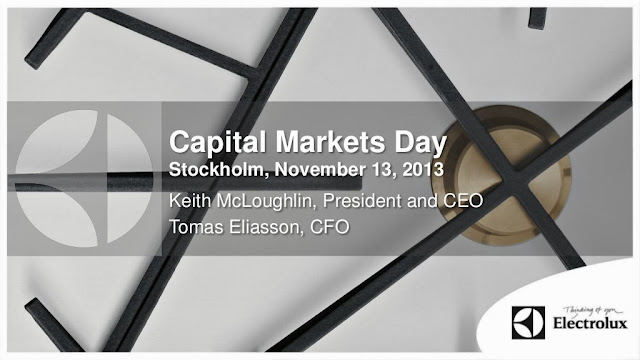 Electrolux Capital Markets Day 2013