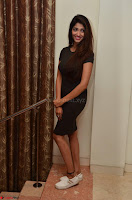 Priya Vadlamani super cute in tight brown dress at Stone Media Films production No 1 movie announcement 070.jpg