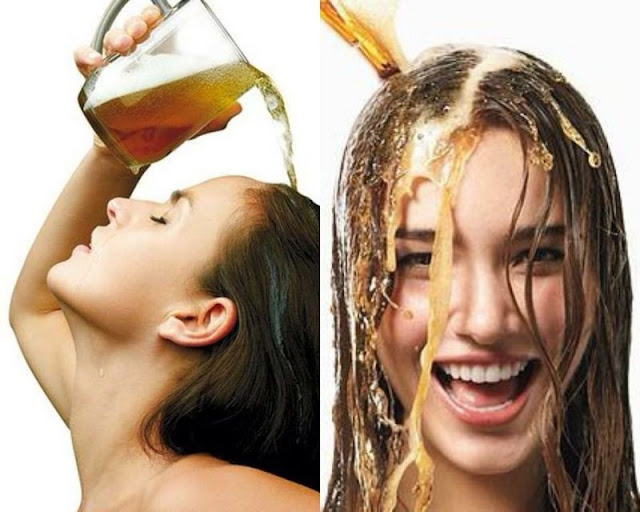 cách chăm sóc tóc mau dài bằng bia
