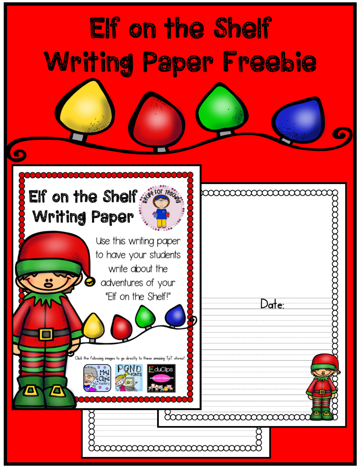http://www.teacherspayteachers.com/Product/Elf-on-the-Shelf-Writing-1532158