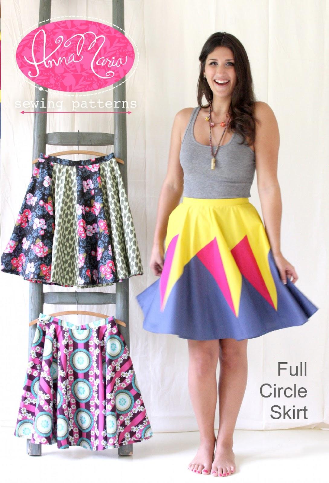 Cassie Stephens Diy The Anna Maria Horner Full Circle Skirt