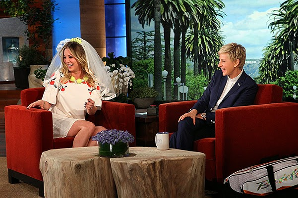 Ellen DeGeneres got married Kaley Cuoco and Ryan Sweeting