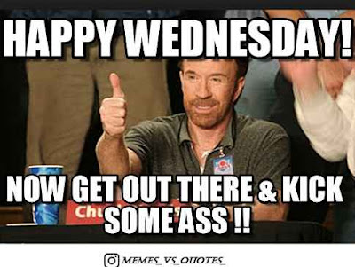 It's Wednesday kick some ass