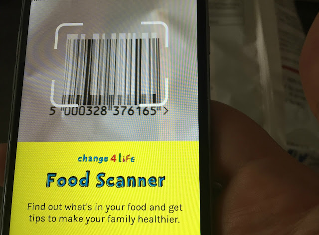 using the Change4Life Food Scanner app