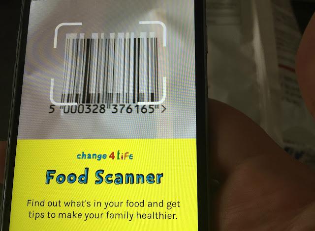 using the Change4Life Food Scanner app