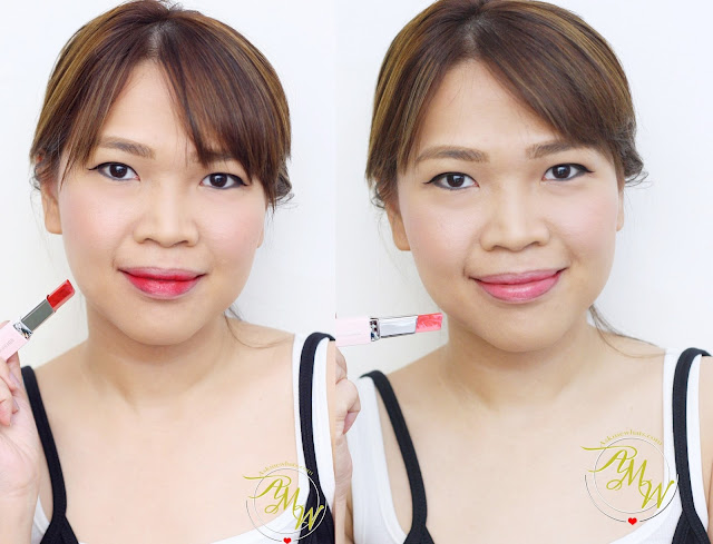 a photo of AskMEwhats_Nikki Tiu_ Laneige Two Tone Lip Bars from Milky Way Collection in Bloody Dress and Mystic Rose