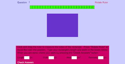 Измерь и вычисли площадь прямоугольника