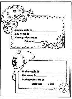Modelos De Cracha Para Os Alunos Espaco Educar