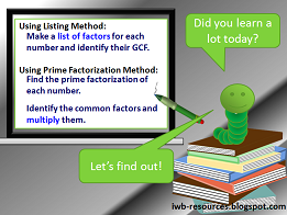 Finding the Greatest Common Factor - Interactive Math Lesson