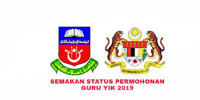 Semakan Status Permohonan Guru Yayasan Islam Kelantan 2019