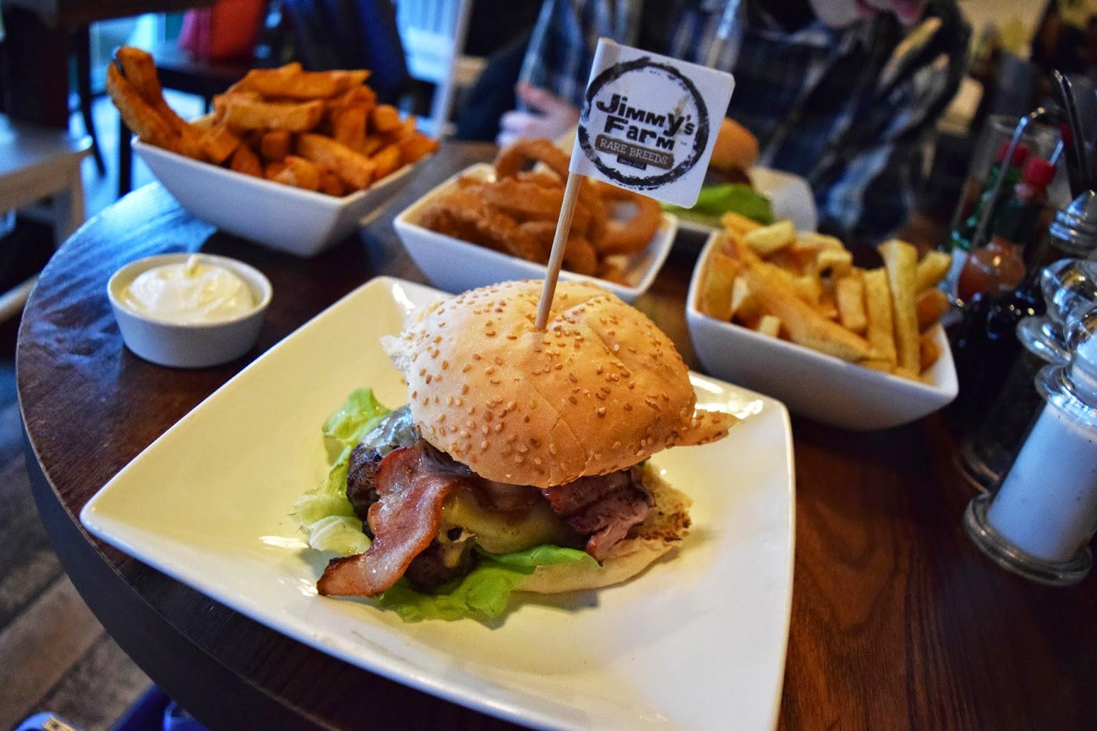 the Jimmy's Farm burger available at Handmade Burger