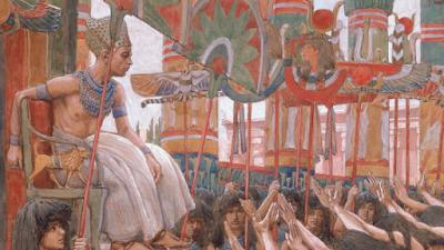 Faraó sendo carregado pelos súditos