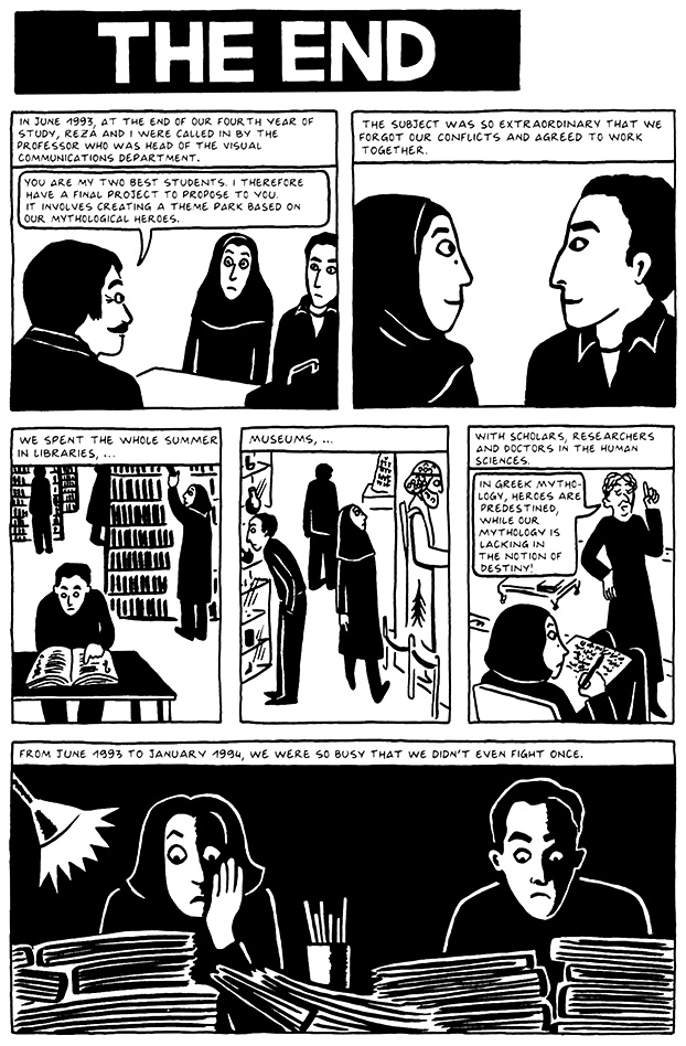 Read Chapter 19 - The End, page 174, from Marjane Satrapi's Persepolis 2 - The Story of a Return