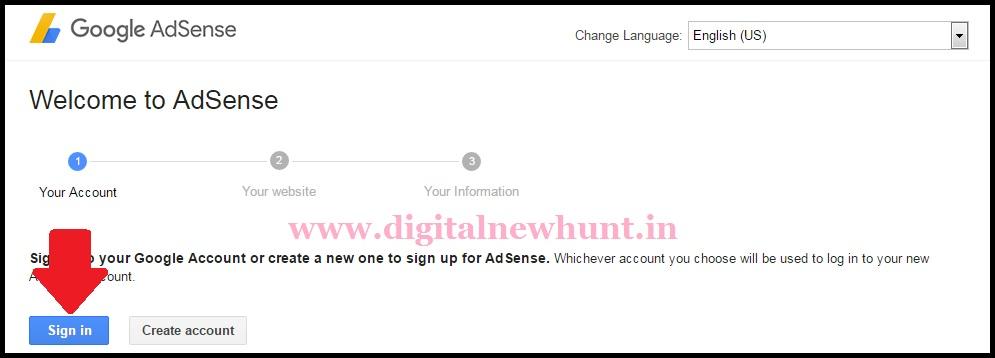 how to create google adsense account free