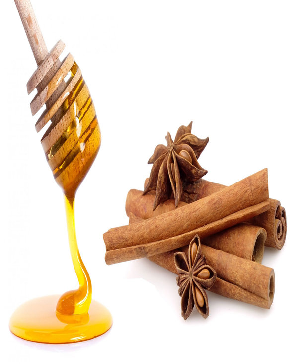 honey with cinnamon