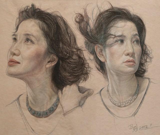 Карандашные портреты. William Wu 14