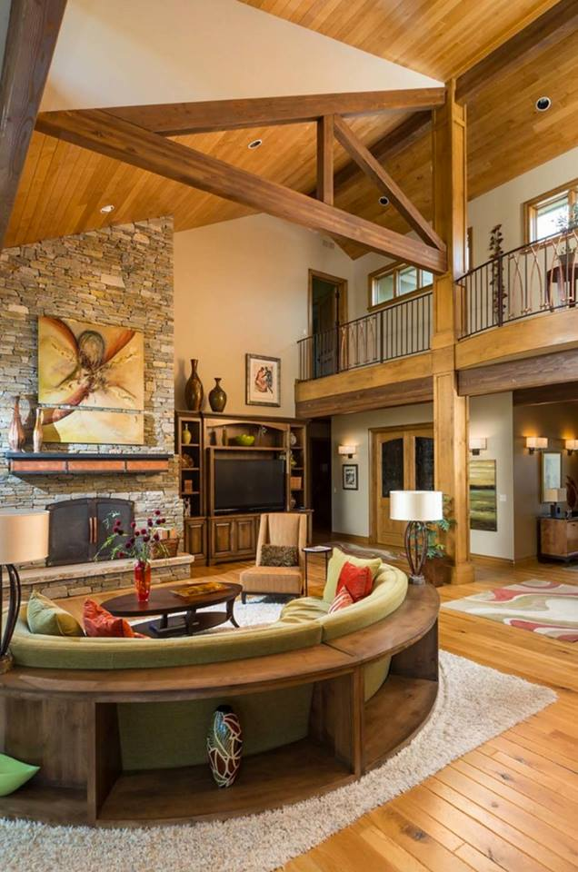 Modern Rustic Wood Interior Designs - Home Decor