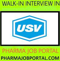 USV Pvt. Ltd. Walk-In Interview M.Pharm, B.Pharm, M.Sc, B.Sc, ITI, B.E, Diploma - Apply Now