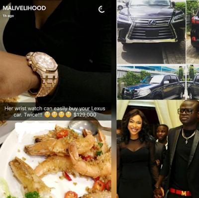 Tonto Dikeh's ex-boyfriend, Malivelihood shades her Lexus gift, says his girlfriend's watch could buy it twice