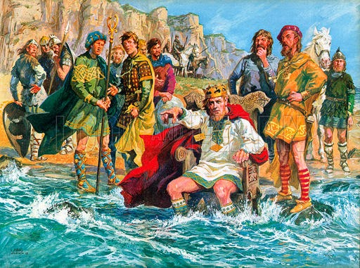 King Canute commands the tide. Just another historical misconception.