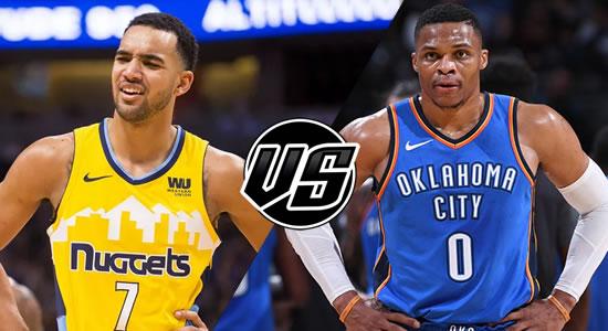 Live Streaming List: Denver Nuggets vs Oklahoma City Thunder 2018-2019 NBA Season