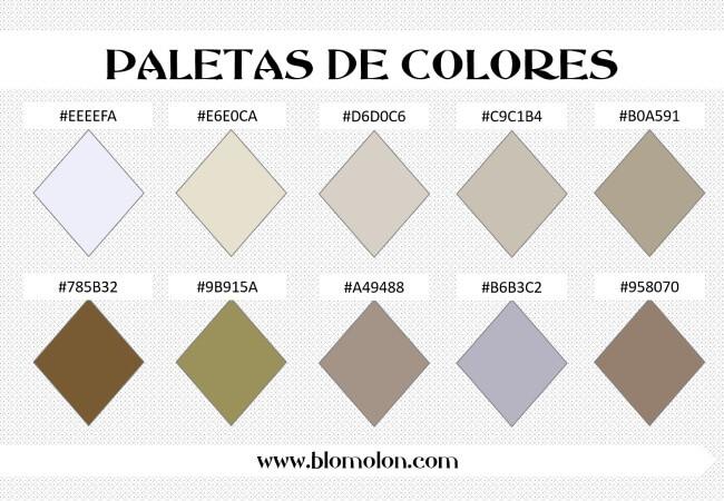 paleta de colores 1 combinaciones