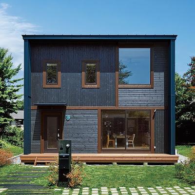 แบบบ้านโครงสร้างเหล็กสีดำ