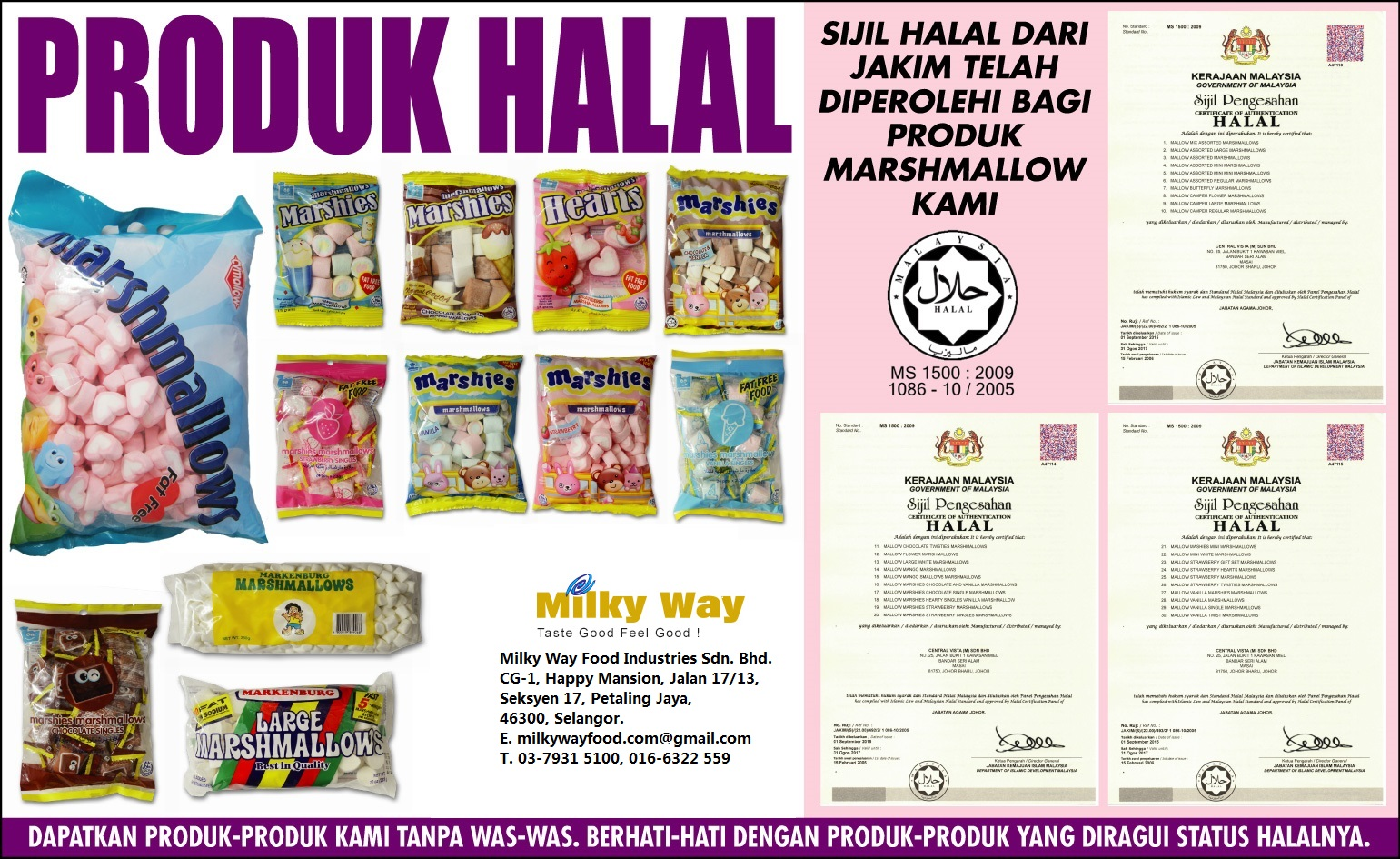 Milkyway Food: Halal Marshmallow Malaysia,Marshmallows