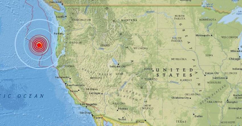 TERREMOTO EN ESTADOS UNIDOS de Magnitud 6.2 (Hoy Miércoles 22 Agosto 2018) Temblor EPICENTRO - Oregón - EE.UU. - USGS