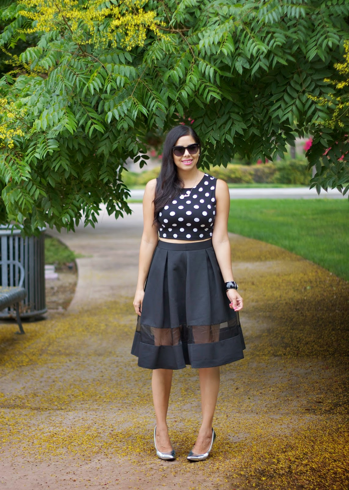 Crop and Midi outfit, crop top and midi skirt, crop and full midi skirt, express midi skirt