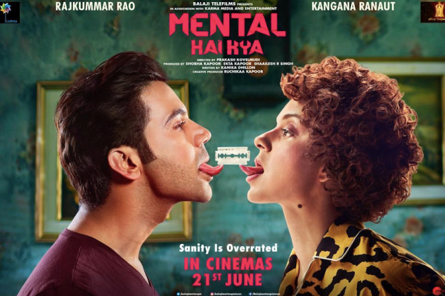 Mental Hai Kya new upcoming movie first look, Poster of Kangana and Rajkumar next movie download first look Poster, release date