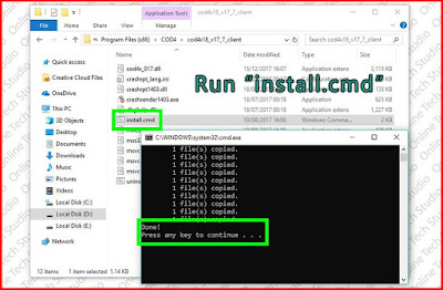 Run install.cmd COD 4 MW 1.8 patch