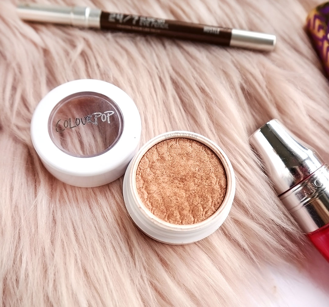 colourpop LALA super shock shadow review and swatch
