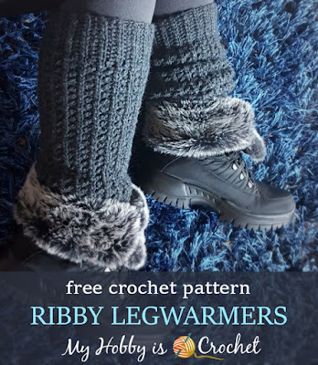 Ribby Legwarmers - Free Crochet Pattern on myhobbyiscrochet.com