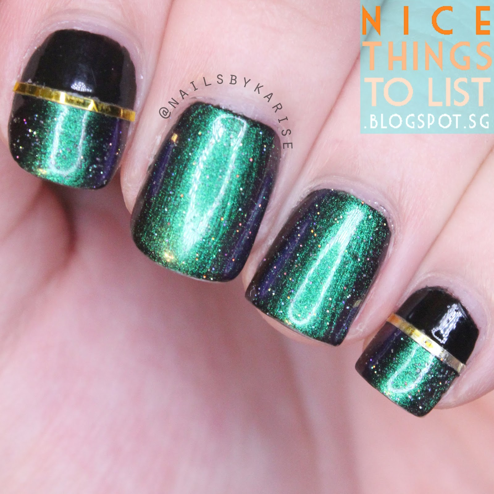 Multichrome ILNP Sirene Nail Art - Nice Things To List