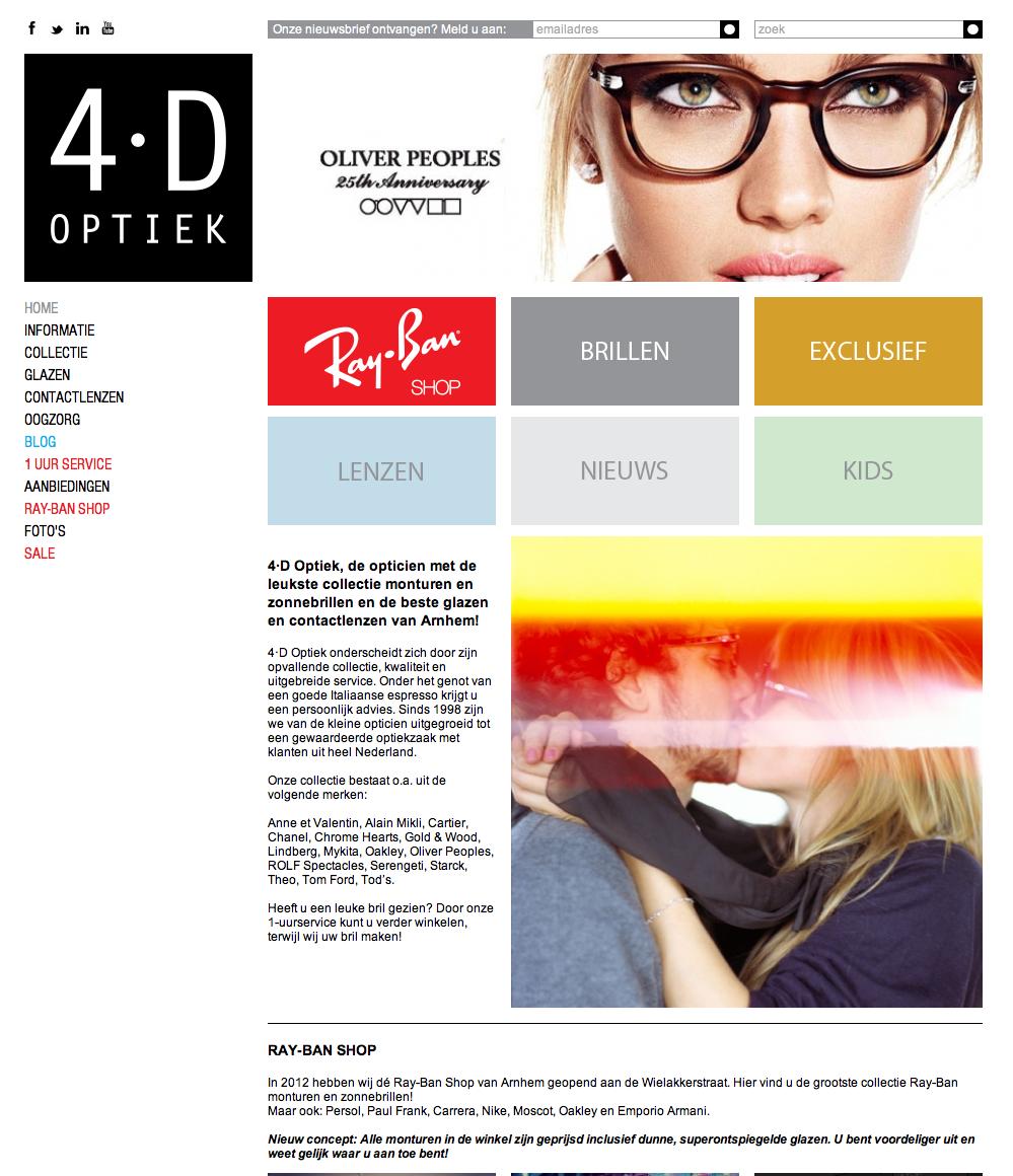 Nieuw bij 4·D Optiek  Cartier brillen en zonnebrillen   4·D Optiek    Ray-Ban Shop Arnhem d82373921731