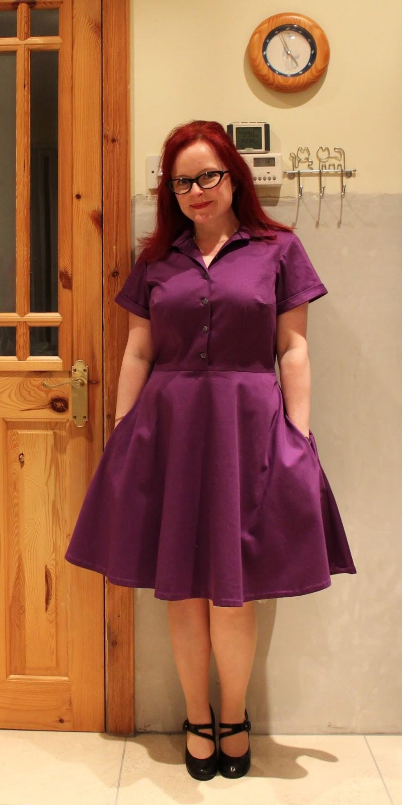 318e451272e Ozzy Blackbeard: Purple Shirt Dress